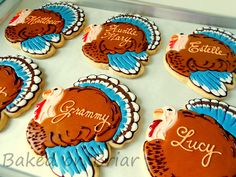 Thanksgiving Placecard Cookies     www.facebook.com/bakedonbriar?directed_target_id=0