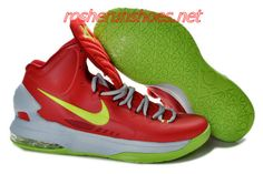 New Nike Zoom KD V Kevin Durant 5 Shoes On Sale Bright Crimson Volt Wolf  Grey a2d67bed46