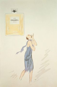 10 Vintage Chanel No. 5 Ads You NEED to see - The first Chanel No. 5 perfume ad, 1921