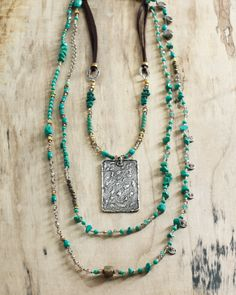 #Turquoise from Silpada's Heritage Collection | Cave Painting and Stone's Throw Necklace
