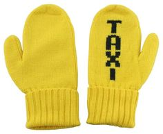 Kate Spade Taxi Yellow Big Apple Mittens $64.99
