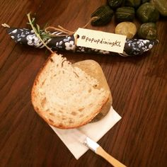 """Last night at #popupdiningkl : sourdough bread 