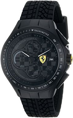 Ferrari Men's 0830105 Race Day Analog Display Quartz Black Watch - http://www.caraccessoriesonlinemarket.com/ferrari-mens-0830105-race-day-analog-display-quartz-black-watch/  #0830105, #Analog, #Black, #Display, #Ferrari, #MenS, #Quartz, #Race, #Watch #Enthusiast-Merchandise, #Ferrari