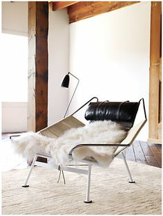 Flag Halyard Chair - one of my favourite chairs ever constructed!! the original costs $12.000 - $16.000 but there is a company that makes them for much less. They are an OK option. They produce high quality replicas here in the US…I'll show you
