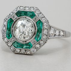 Art Deco Engagement Ring Antique Style