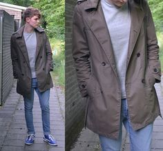 Zara Trench Coat, Cos Tee, H Denim Jeans, Fvb Trainers