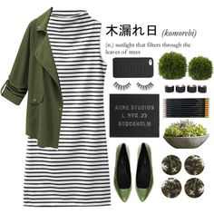 Komorebi by jafashions on Polyvore featuring мода, megumi ochi, Acne Studios, Maison Margiela, GiGi New York, Napoleon Perdis, Sloane Stationery and Campania International