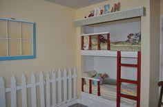 Turn a closet into bunk beds