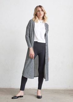 The Long Cardigan + The Convertible Shirt Dress + The Stretch Ankle Pant   5 pieces = 30 outfits   The Minimal Capsule #capsulewardrobe #womensfashion #ethicalfashion #sweaters #cardigan #dustercardigan #pants #minimal