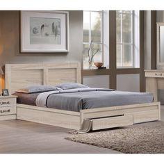2c5bc9db5d Κρεβάτι Pedro Διπλό 160x200 με 2 Συρτάρι Σημύδα Drawers