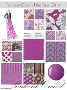 2014 Pantone Color of the Year! I can never get enough of purples! Orchid Color, Types Of Colours, New England Homes, Beading Projects, Trends, Shades Of Purple, Magenta, House And Home Magazine, Purple Rain
