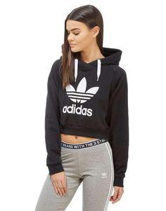 Adidas rita ora colourblock logo hoodie in black | Ladies
