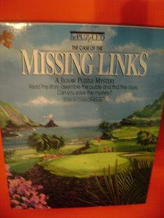 BePuzzled Jigsaw Puzzle  The Case Of The Missing Links Golf Game  500 pcs New #BePuzzled