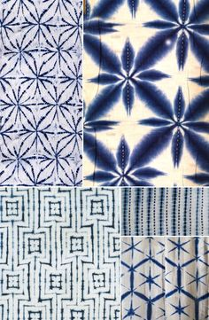 History of Surface Design: Shibori – Pattern Observer Series on the history of surface design by Julie Gibbons. Shibori has been getting a bit of press lately; it seems to be never too far away on. Shibori Fabric, Shibori Tie Dye, Japanese Textiles, Japanese Patterns, Textile Manipulation, Fabric Dyeing Techniques, Tie Dye Crafts, How To Dye Fabric, Fabric Painting