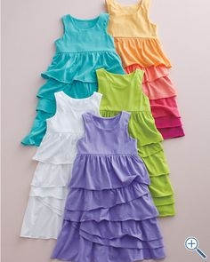 Shop stylish girls' dresses at Garnet Hill. Find beautiful, comfy girls' knit dresses, cotton dresses, casual dresses, and more for summer. Tank Dress, Dress Skirt, Girls Dresses, Summer Dresses, Sewing Clothes, Girls Shopping, Ruffle Dress, Kids Outfits, Knitting