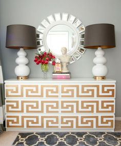 Transform Your Furniture with O'verlays (love the Greek Key of course)