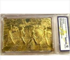 The Beatles Gold Plated Abbey Road Trading Card Ltd Edition