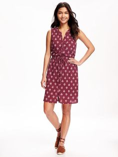 Button Down Midi Shirt Dress for Women