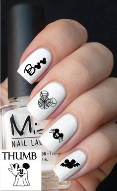 50pc Disney Halloween Nail Decal set by DesignerNails on Etsy, $4.00