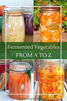 to Ferment Vegetables - It's Easy & Delicious How to ferment vegetables. Basic advice and recipes for everything from avocado to zucchini.How to ferment vegetables. Basic advice and recipes for everything from avocado to zucchini. Fermentation Recipes, Canning Recipes, Healthy Vegetable Recipes, Raw Food Recipes, Pickeling Recipes, Kefir, Kombucha, Superfood, Fermented Cabbage