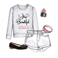 Graphic sweatshirt summer outfit   Doll Memories