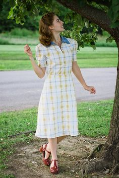 What I Made // 1930s Plaid Summer Dress
