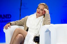 How press photographer works. Sharon Stone-Peace Summit Award