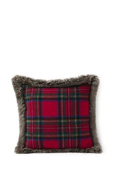 $49.00 18x18+Plaid+Knit+Decorative+Pillow+from+Lands'+End