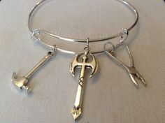 Expandable Silver Plated Alloy Tool Charm by CreativeSoulSOT