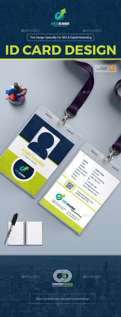 ID Card Print templates, Template and Card templates - id card template