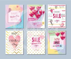 Sale banners Mother's Day vector