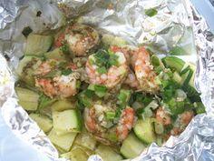Eggface Healthy Dinners - Foil Packet Shrimp & Summer Squash