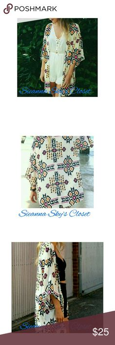 LAST ONE!! This is such a gorgeous pattern cardigan! boutique Swim Coverups