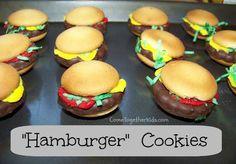 Galletas lindas y fáciles de hamburguesa (son sin cocción!)