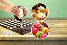 instead of for a macaron baking kit from London Exchainstore - save Gadgets And Gizmos, Confectionery, Macaroons, Bon Appetit, Manchester, Cool Things To Buy, Treats, London, Baking