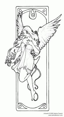 Enchanted Designs Fairy & Mermaid Blog: Free Fairy Coloring Pages by Selina Fenech