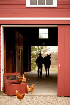 In the barn...