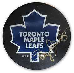 Roger Clemens Hand Signed Autographed Maple Leafs Puck Very Rare! GAI GV 273265