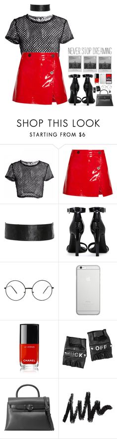 """""""skirt"""" by anabelisstyle ❤ liked on Polyvore featuring Topshop Unique, Yves Saint Laurent, Meggie, Native Union, Chanel, Funk Plus and Alexander Wang"""