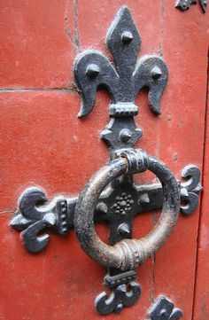 Fleur de lis door handle - would love to have this at home!