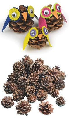 Use pinecones and felt to make adorable owls for a Thanksgiving or fall decoration!