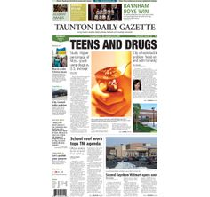 The front page of the Taunton Daily Gazette for Monday, March 3, 2014.