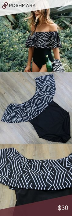 COMING SOON!!!! Only $30! It is a one piece black and white baiting suit. More details coming soon! Swim One Pieces