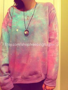 Pastel Galaxy Sweatshirt by KeepingItUglier on Etsy, $32.00