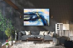 Items similar to Large Abstract Painting on Canvas,Large Painting on Canvas,oil hand painting,painting canvas art,home decor wall on Etsy Modern Oil Painting, Large Painting, Painting Canvas, Modern Wall Art, Large Wall Art, Modern Decor, Oversized Canvas Art, Large Canvas, Modern Art Movements
