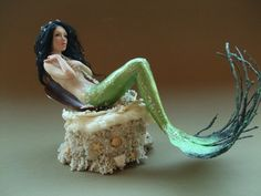 OOAK Seductive Mermaid - Sculpture by Patrizia Cozzo IADR ODA |polymer cay over wire