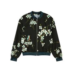Buy John Lewis Girls' Floral Bomber Jacket, Black from our Girls' Coats, Jackets & Gilets range at John Lewis & Partners. Floral Bomber Jacket, Black Bomber Jacket, Bird Prints, Our Girl, John Lewis, Coat, Girls, Jackets, Stuff To Buy
