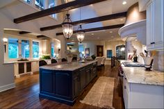 French Inspired Kitchens. This post is filled with great design ideas for French Kitchens. #French #Kitchen #Interiors