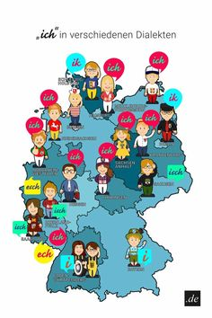 """How to say """"ich"""" in different German dialects #germany #german #deutschland #deutsch #learning #language #languagearts"""