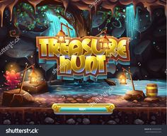 Example Of The Boot Screen To Play Game User Interface Treasure Hunt Стоковая векторная иллюстрация 254933209 : Shutterstock
